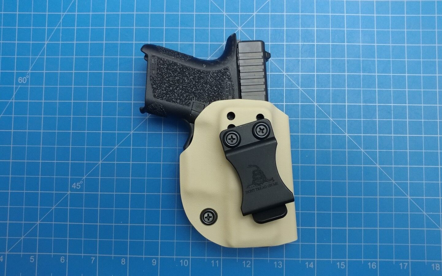 Polymer 80 pf940sc iwb right hand carry kydex holster desert tan