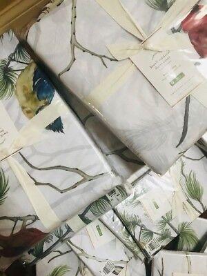 Pottery Barn Hummingbird Duvet Cover Set King 2 King Shams Floral Birds New