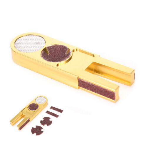 Golden MULTI-FUNCTION Pool Cue Tip Trimmer Shaper//Scuffer//Tapper//Burnisher VH