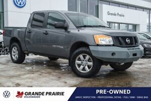 2015 Nissan Titan S | Iron Cross Front Bumper | After Market Stereo | Bluetooth | Cloth Bench Seat
