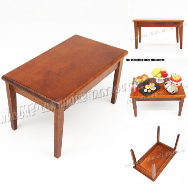 1:12 Miniature Wood Display Dining Table Kitchen Furniture Dollhouse Fit Orcara