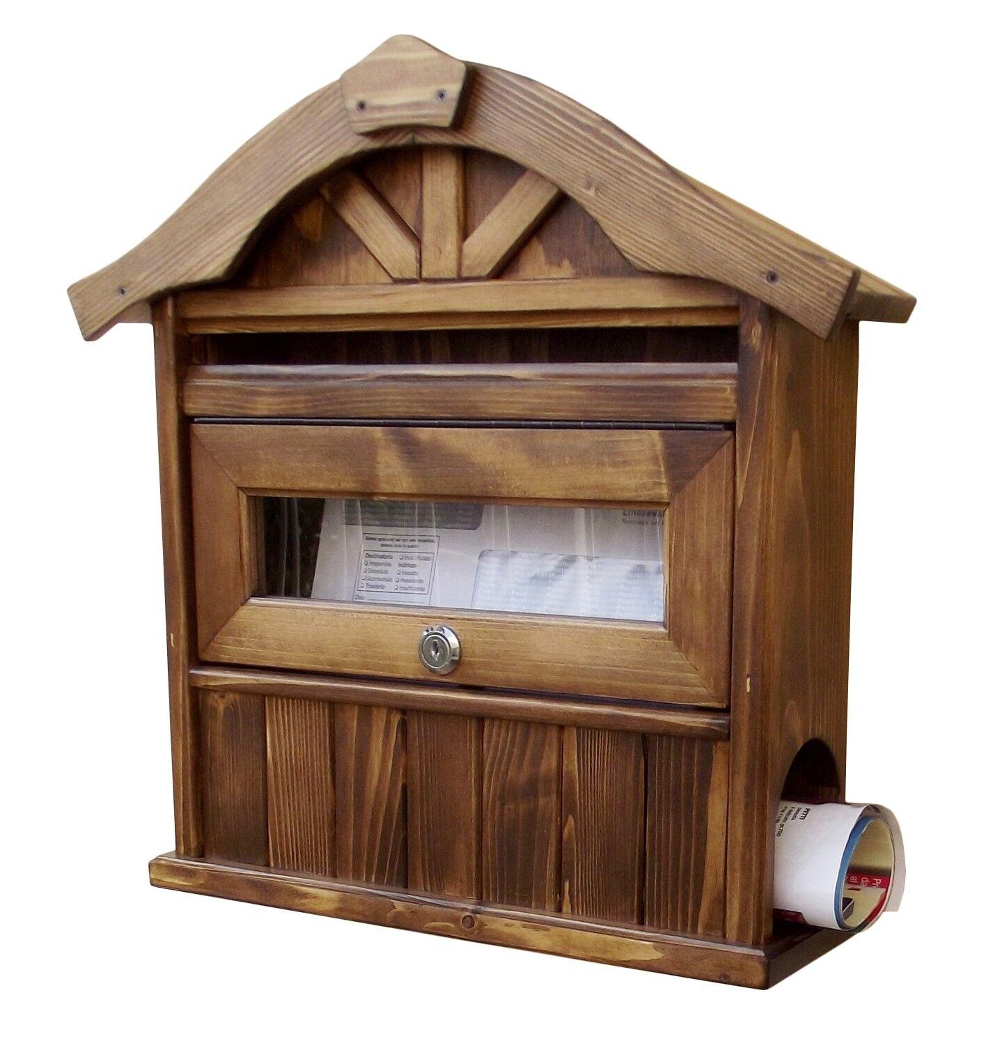 Briefkästen Postkasten Holz Wandbriefkasten Mailbox   Dolomiten   Nussbaum