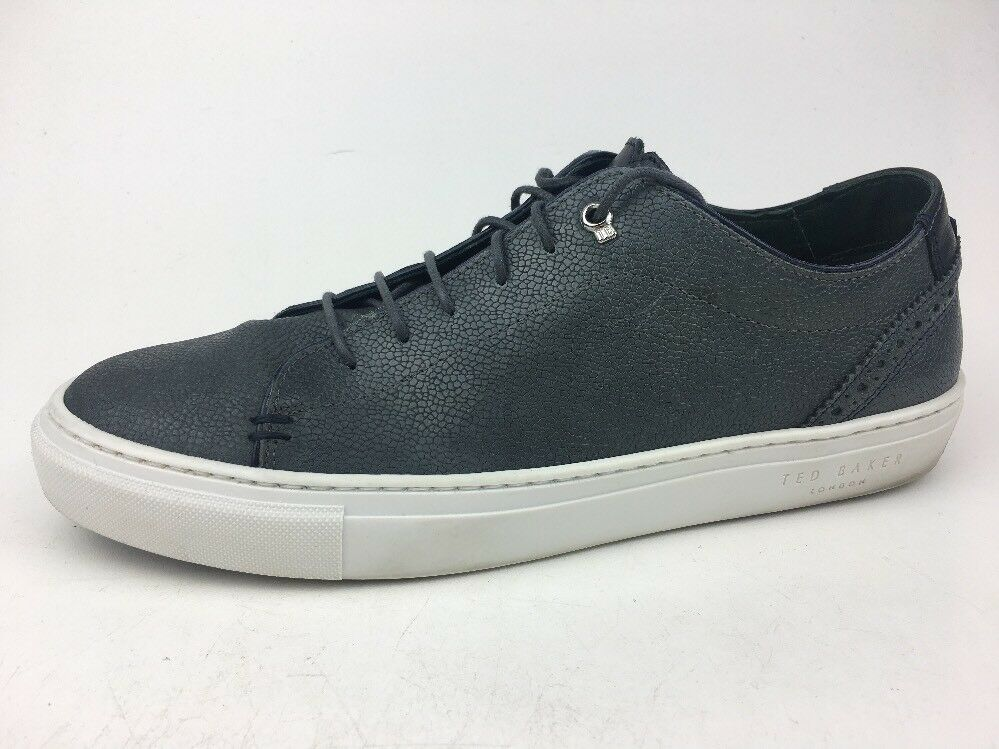 Scarpe casual da uomo  TED BAKER Duuke Leather AM Grey Lace Up Sneakers Shoes uomos size 8