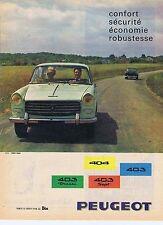 Publicité Advertising 016 1961 Peugeot 403 diesel,404, 403 sept
