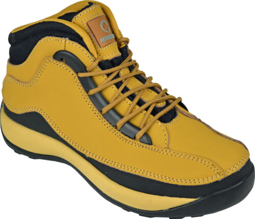 **MENS SAFETY BOOTS STEEL TOE CAP ANKLE TRAINERS HIKING SHOES TREKKING 6-13 SIZE