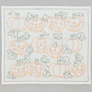 Japanese Embroidery  SASHIKO Kit HOBBYRA HOBBYRE Soup Bowl UTSUWA From JAPAN