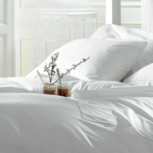Luxury 4 PCs Sheet Set Egyptian Cotton Queen Size Count Deep Pocket White USA