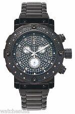 Aqua Master Men's  Black Dial  Stainless Steel Quartz Chrono Watch W#146