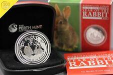 Australien Lunar II Hase Rabbit 1 Unze oz Silber 2011 PP