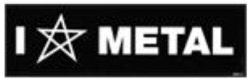 I Love Metal Vinyl Sticker M009S Heart Pentagram Heavy Metal Iron Maiden