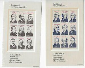 Scott-2216-19-Souvenir-Sheets-1986-VF-MNH-w-Folder