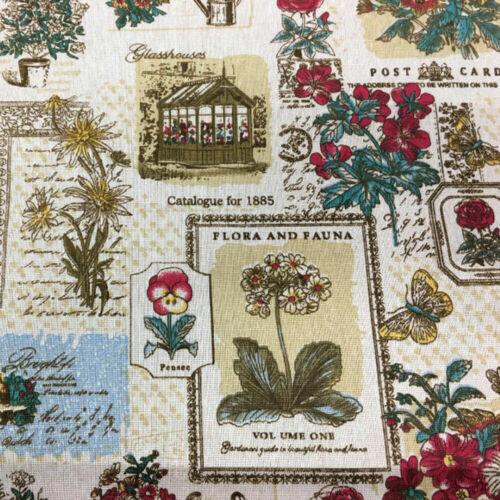 48cm Vintage Algodón Lino Impreso Tela Tapicería Cojines Bolso Carteras Monederos