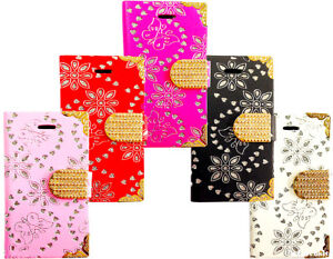 New-Fashion-Leather-Bling-Diamond-Wallet-Book-Case-Cover-For-All-Mobile-Phone