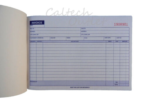 10 x Carbonless Invoice Receipt Record Book 2Part 50 Sets Duplicate Receipt Copy