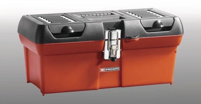 "FACOM BP.C16  16"" TOUGH PLASTIC TOOL BOX 410L x 170W X 180mm D With Compartments"