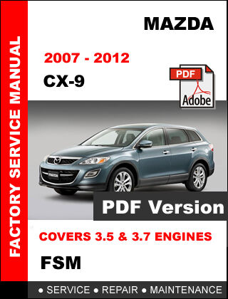 2010 Mazda CX-9 Factory Repair Service Manual