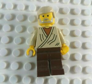 LEGO LOT OF 12 MINIFIGURE STAR WARS FLESH MINIFIG HEAD OBI WAN KENOBI FACE