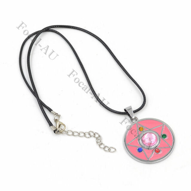 Anime Cosplay Sailor Moon Pendant Necklace Tsukino Usagi Necklace Girl Gift 1pc