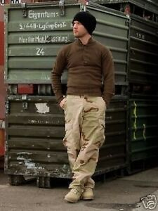 New Mens Army Style Ripstop Combat Cargo Pants Trousers 3 Colour