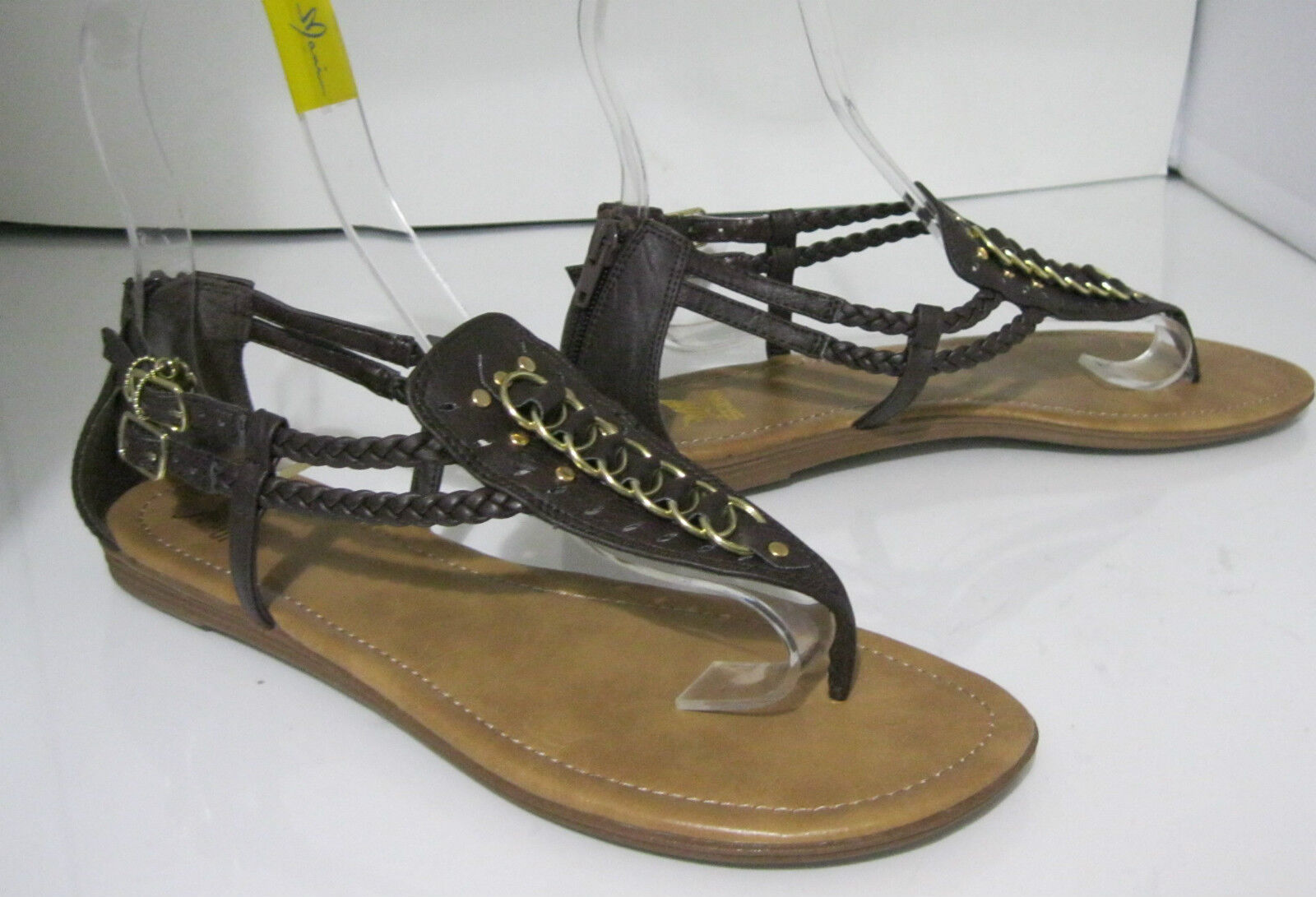 new ladies Summer Womens Brown Womens Summer Shoes Roman Gladiator Flat Sandals Size 7.5 d780cc