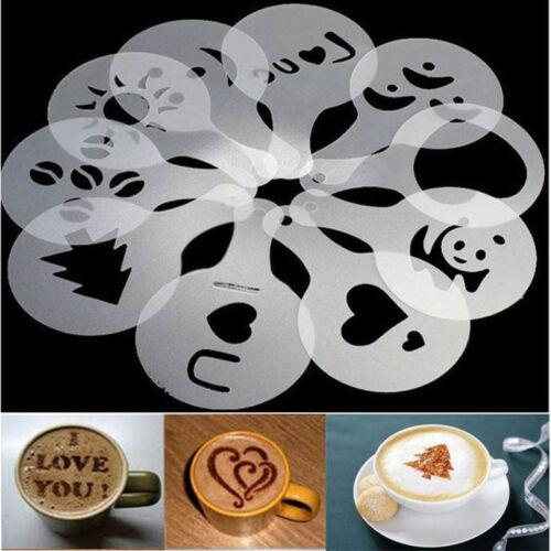 Machine Art Pochoirs Bricolage Spray 16Pcs Pad Café Duster jonche Modèle Stencils