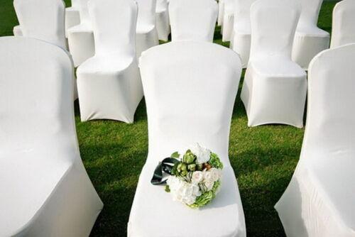 Wholesale 300Pcs Chair Covers Universal White Polyester Spandex Wedding Home Par