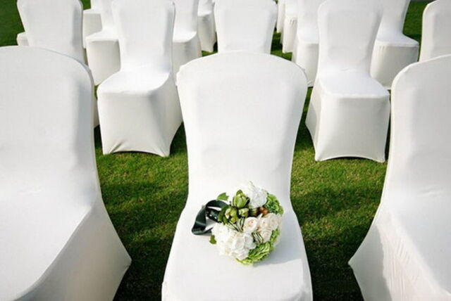 Pleasant 300Pcs White Spandex Lycra Chair Covers Wedding Party Banquet Anniversary Hot Machost Co Dining Chair Design Ideas Machostcouk