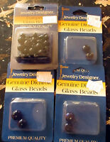 Lot 4 Pcs Darice Jewelry Designer Glass Beads -