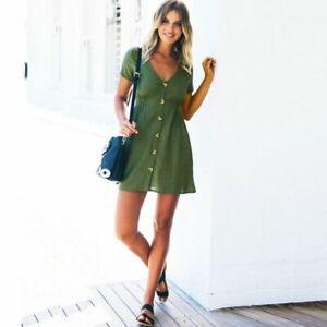 Women Evening Womens Dress Sleeveless Floral beach Fashion V Neck Casual Maxi