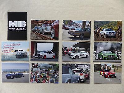Gut Mercedes Fans Schöne Sterne - Postkarten Set - 12 Stück - Sls Rallye Amg Gt A45 Verschiedene Stile