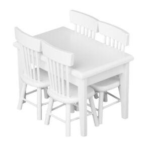 5-piece-Modele-Chaise-de-Table-a-Manger-Ensemale-de-Meubles-Maison-de-Poupee-P2I