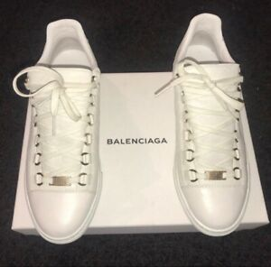 best sneakers skate shoes on feet at Details about Balenciaga Arena Leather Low Top Sneakers Size 39 Box included