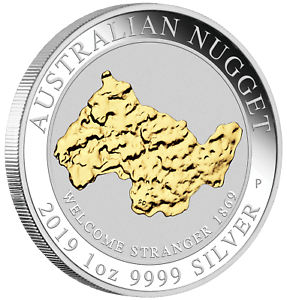 2019-Australia-WELCOME-STRANGER-GOLD-NUGGET-24k-GILDED-1oz-SIlver-1-Coin
