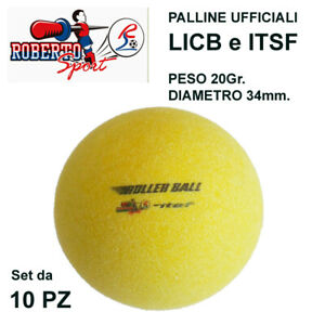 ROBERTO-SPORT-10pz-PALLINE-ROLLER-Ufficiali-CALCIO-BALILLA-CB-REVOLUTION-ITSF