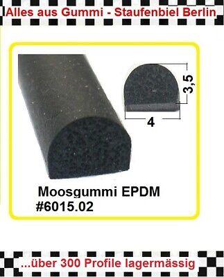 1m Muster Gummidichtung Moosgummi 4x3,5mm 6015.02 Aus Berlin