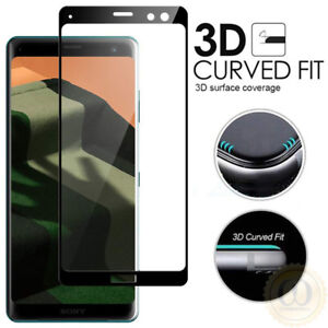 3D-Curved-Tempered-Glass-Screen-Protector-For-Sony-Xperia-1-10-XZ3-XZ2-XA2-Plus