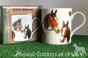 Famous-Racehorses-Red-Rum-Shergar-Nijinski-etc-china-mug-horse-lover-Gift-boxed