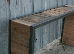 Image Is Loading Reclaimed Wood Console Table Rustic Sofa Table Mid