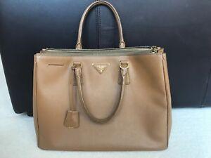 Details about Prada Galleria Saffiano Tote Bag, Caramel
