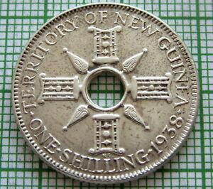 NEW-GUINEA-BRITISH-COLONIAL-GEORGE-VI-1938-SHILLING-SILVER