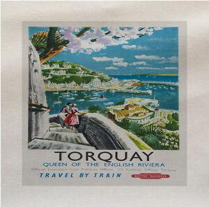Torquay-Viaggio-Tessuto-Panel-Fare-Un-Tappezzeria-Cuscino-Artigianato