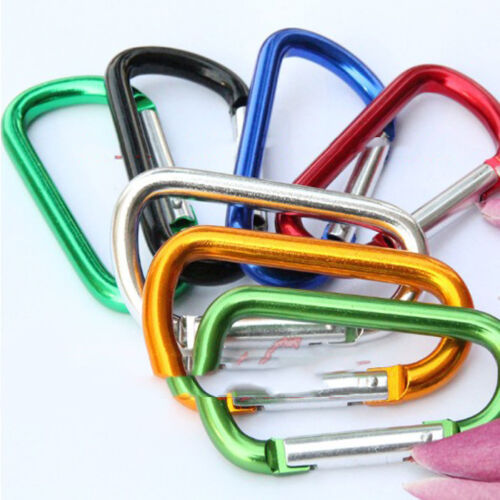 Wholesale Lots 5 X Aluminium Carabiner Camping Hiking Hook Keychain H/&P