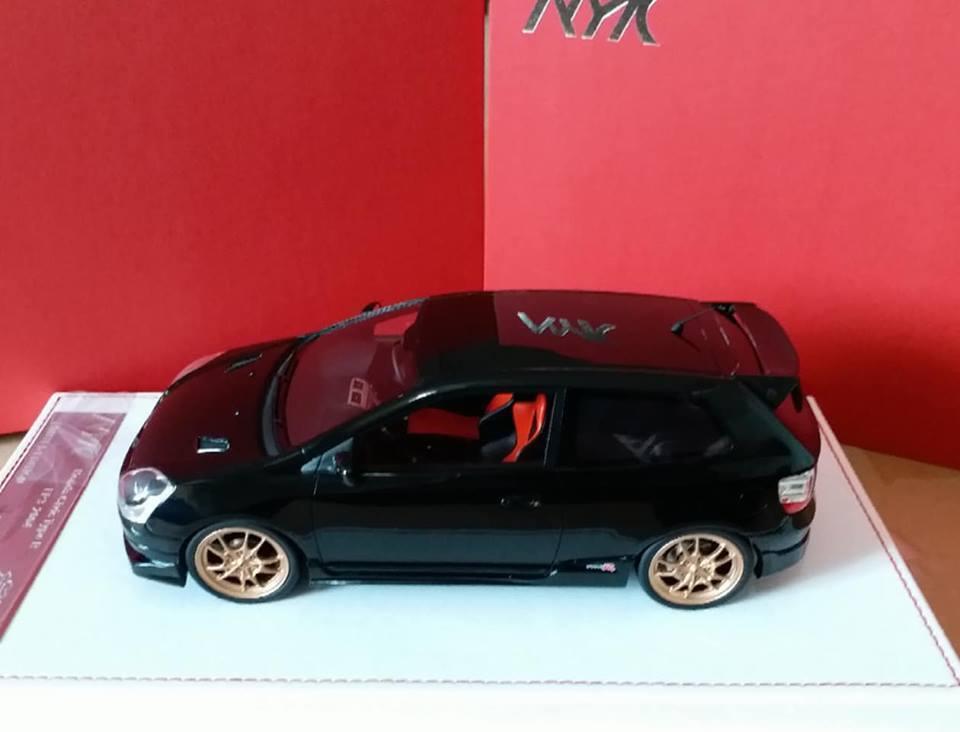 1  18 AMC Résine Modèle Mugen Honda Civic Type R EP3 2004-2005 Nighthawk Noir  Découvrez le moins cher