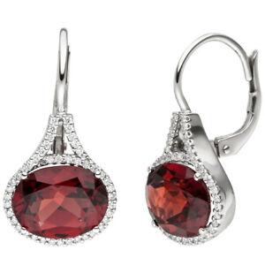 Earrings-Brisur-Earrings-with-88-Diamonds-Garnet-Red-Oval-585-White-Gold