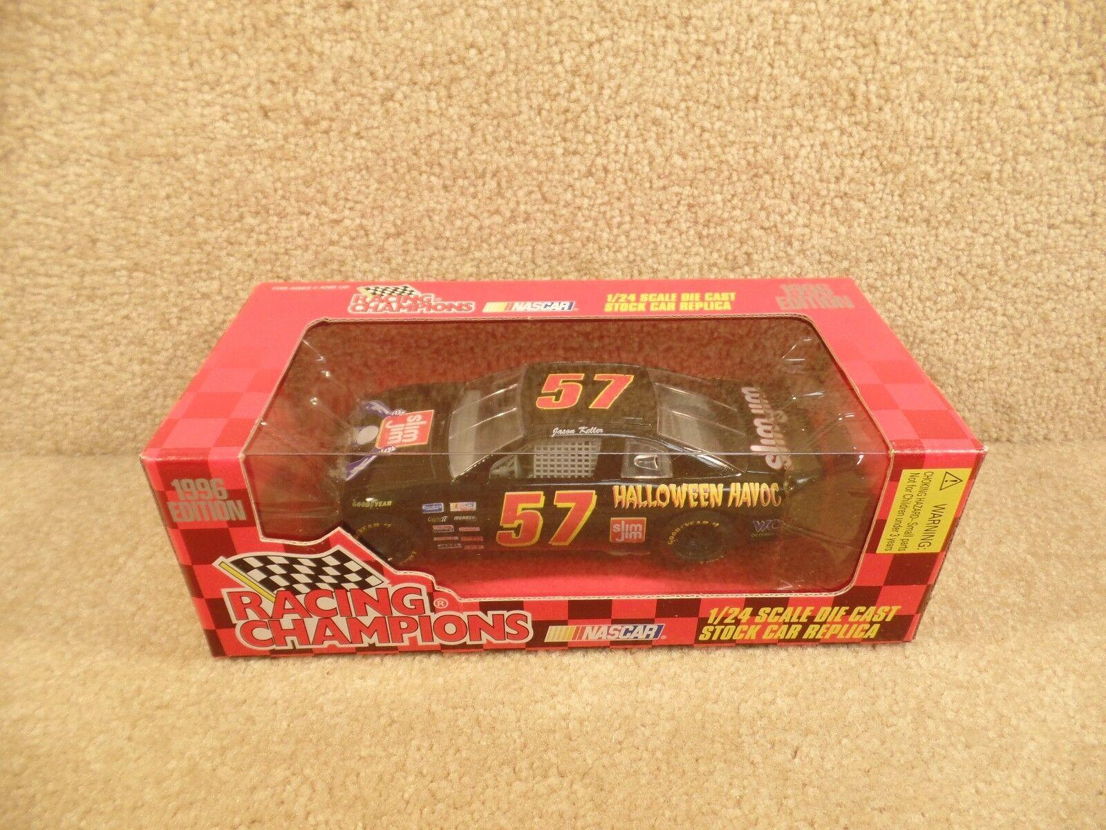 New 1996 Racing Champions 1 24 NASCAR Jason Keller Slim Jim Halloween Havoc