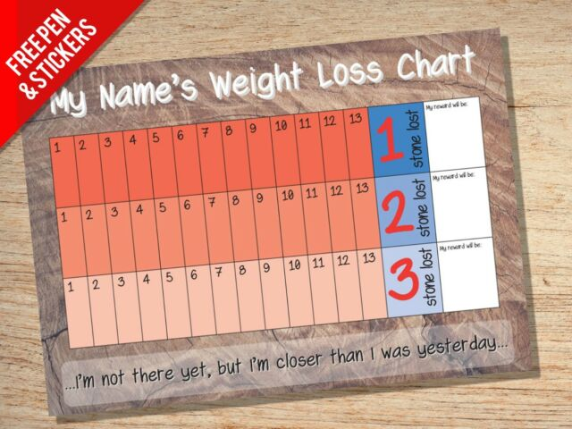 personalised weight loss slimming chart tracker target goal ebay
