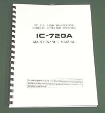"Icom IC-720A Service Manual: 11"" X 24"" Schematics, Protective Plastic Covers!"