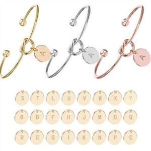Knot-Bracelets-Capital-Initial-A-Z-Letter-Pendant-Open-Cuff-Bangles-for-Women