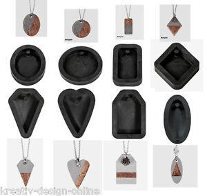 gie form f r schmuck anh nger aus beton verschiedene formen zur wahl neu formen ebay. Black Bedroom Furniture Sets. Home Design Ideas