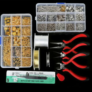 Boucle-d-039-oreille-Bijoux-Making-Kit-Wire-Findings-Pince-Starters-Outils-Collier-de-reparation